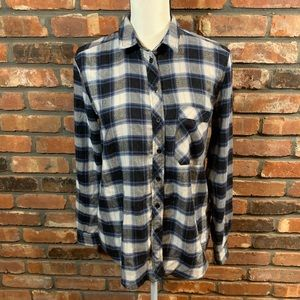 BDG Urban Outfitters Plaid Flannel Button-down Top